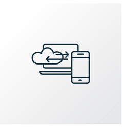 cloud computing icon line symbol premium quality vector image