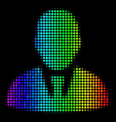 colored dotted manager icon vector image