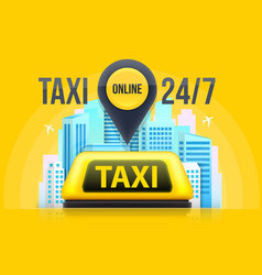 creative of yellow taxi vector image