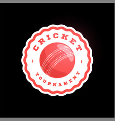 Cricket circle logo modern professional vector