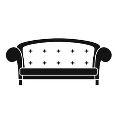 crown sofa icon simple style vector image