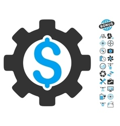 Development cost icon with air drone tools bonus vector