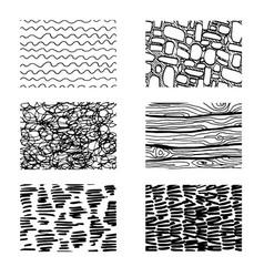 Different paving elements for landsape designplan vector