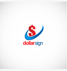 dollar sign money business logo vector image