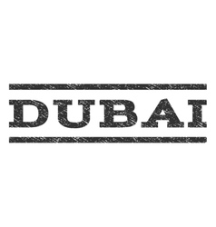 Dubai Watermark Stamp vector