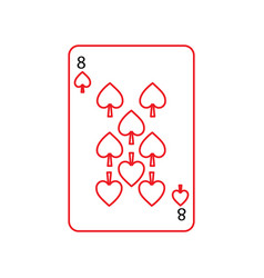 eight of spades french playing cards related icon vector image