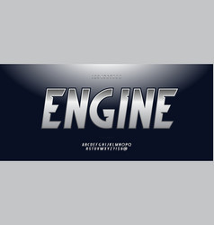 engine alphabet modern typography vector image