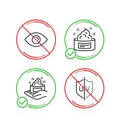 eye skin care and skin cream icons set uv vector image