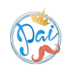 Father in portuguese - pai vector