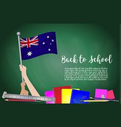 Flag of australia on black chalkboard background vector