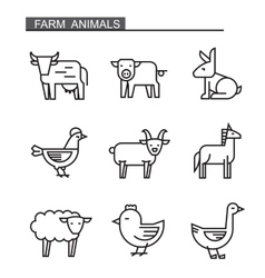 flat farm animal vector image