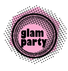 Glam party stamp vector