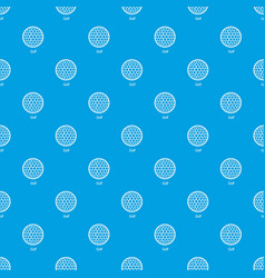 golf ball pattern seamless blue vector image
