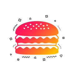 hamburger icon burger food symbol vector image