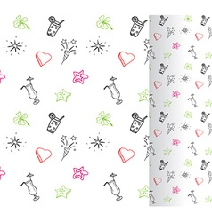 Hand drawn Birthday party background Seamless vector image