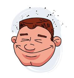 happy man face cartoon hand drawn image vector image