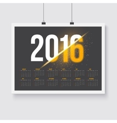 Happy New Year 2016 Calendar Happy 2016 vector