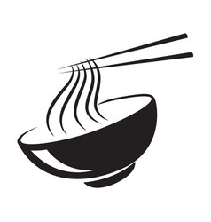 icon black noodle vector image