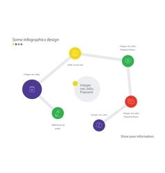 Infographic map Useful for presentation web vector
