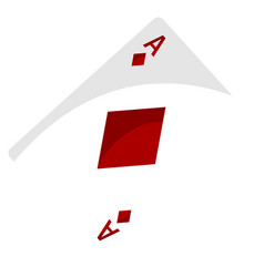 Isolated ace diamonds vector