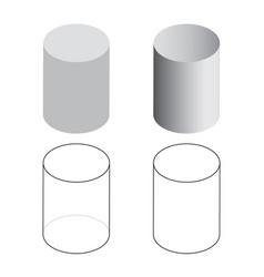 isometric 3d cylinder tubes vector image