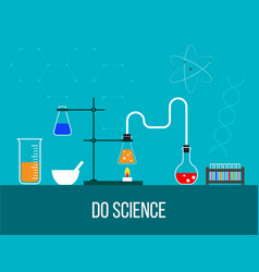 laboratory equipment for chemistry science and vector image