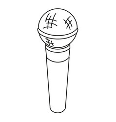 line art black and white microphone vector image