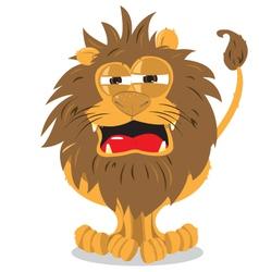 Lion roaring vector