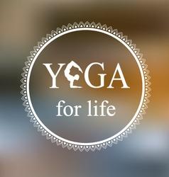 Logo for yoga studio vector