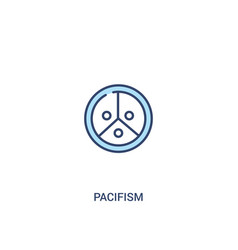 Pacifism concept 2 colored icon simple line vector