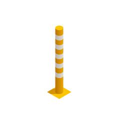 Parking column icon vector