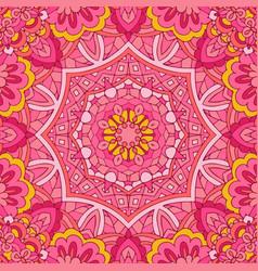 pink flower ethnic seamless design festive vector image