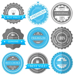 premium quality guarantee badges vector image