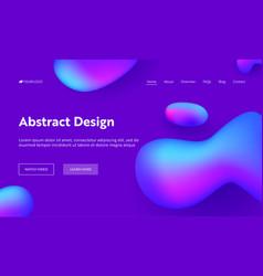 purple abstract geometric drop shape landing page vector image