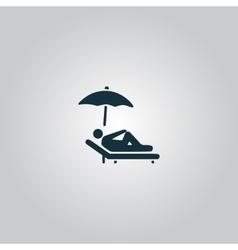 Relax under an umbrella on a lounger vector