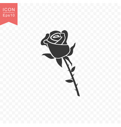 Rose flower icon simple flat style vector