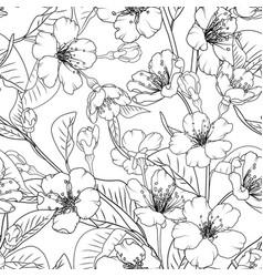 sakura flowers seamless pattern texture background vector image