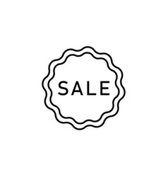 sale sticker spa outline icon signs and symbols vector image