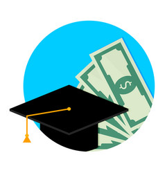 Scholarship or study grant icon flat vector