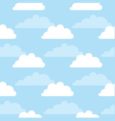seamless pattern with clouds and sky vector image