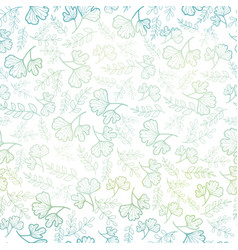 Seamless pattern with spring leaves pastel vector