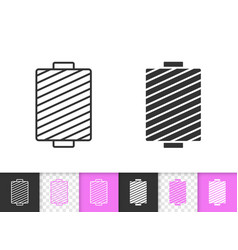 sewing thread simple black line icon vector image
