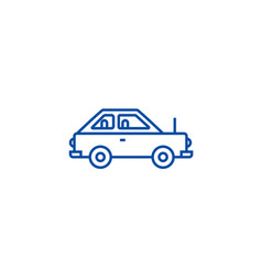 simple car line icon concept simple car flat vector image