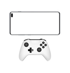 Smartphone with joystick isolated vector