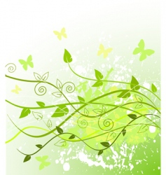 Spring in green vector