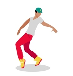 Street Dance Concept Flat Design Hip Hop Break vector image