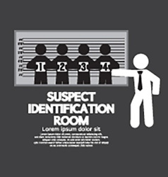 Suspect identification room vector