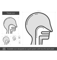 Throat line icon vector