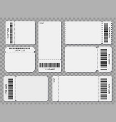 Ticket templates blank admit one festival concert vector