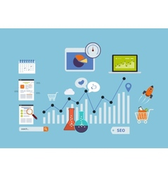 Website SEO icons vector image